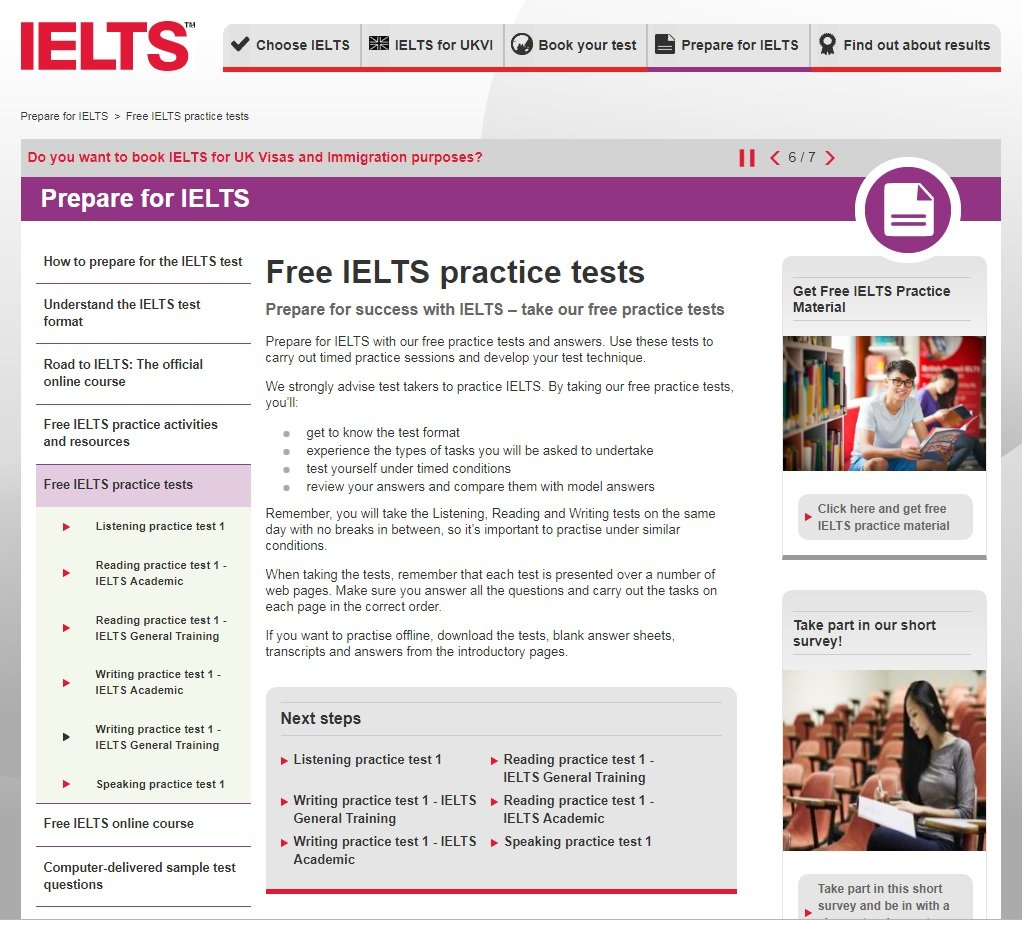 Ielts Online Sample Test