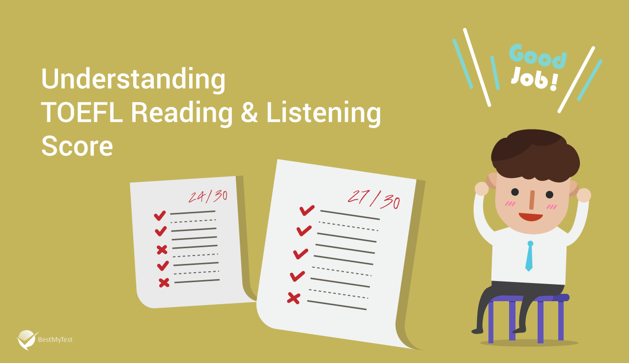 TOEFL reading and listening score